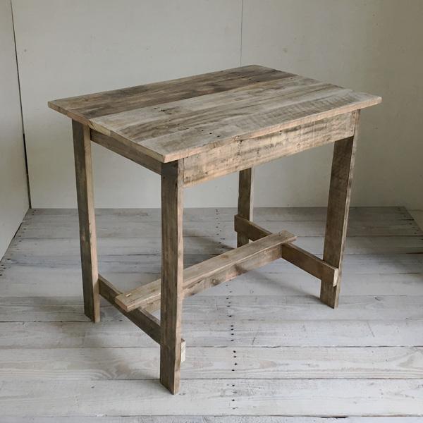 リサイクルウッド ワーキングテーブル コンパクト 木製テーブル テーブル ダイニングテーブル カフェテーブル 作業台 木製デスク デスク 天然木 無垢 アンティーク風テーブル アンティーク風