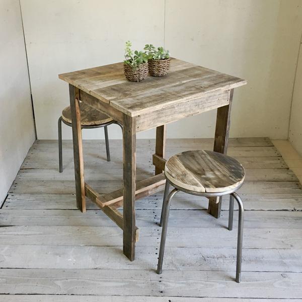 リサイクルウッド プチテーブル 木製テーブル テーブル ダイニングテーブル カフェテーブル 二人掛けテーブル 天然木 無垢 アンティークテーブル アンティーク風