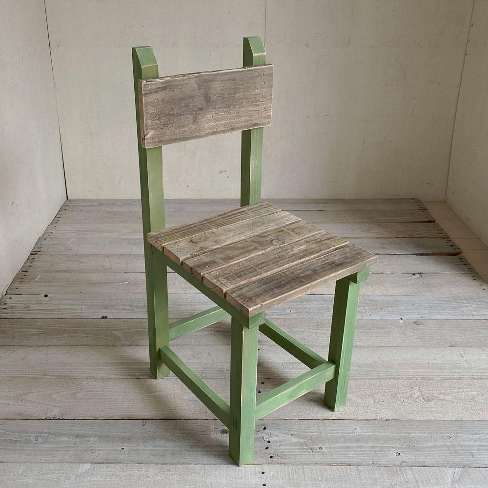 【新商品】学校のイス リーフグリーン 木製イス ダイニングチェア 食卓椅子 レトロ椅子 木製チェア グリーン