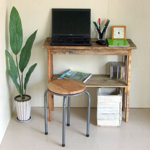 リサイクルウッド コンソールテーブル 2 コンソール 木製テーブル 飾り棚 キャビネット キッチン収納 リビングシェルフ ラック 収納棚 整理棚 天然木 無垢 アンティーク風 テーブル アンティーク風