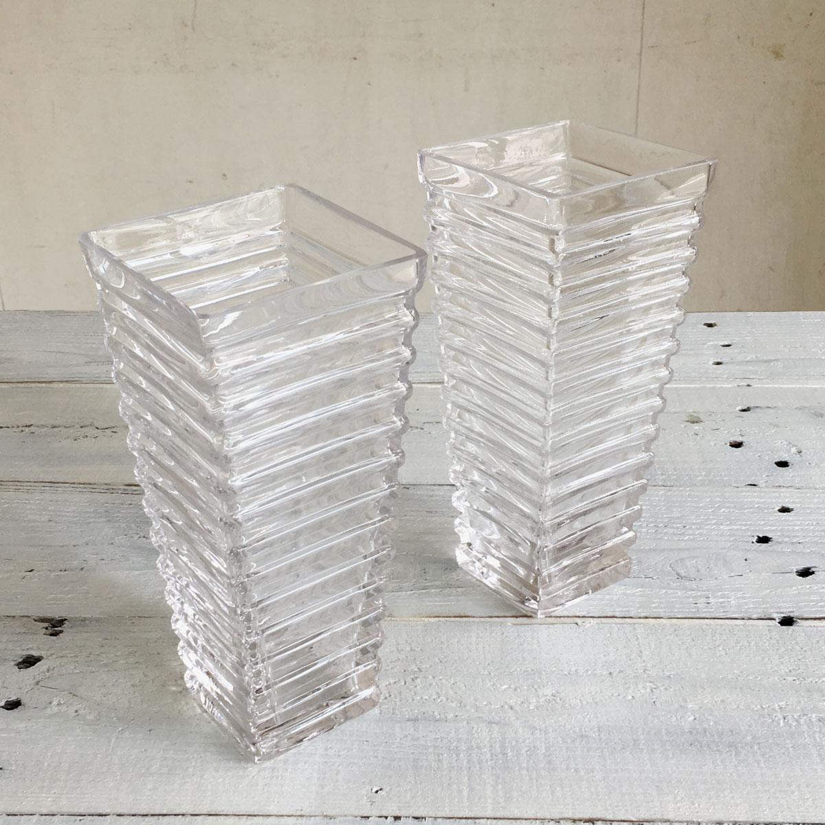 本日の目玉 シンプルデザインのフラワーベース2個セットで送料無料 未使用品 在庫処分特価品 送料無料 2000円ポッキリ フラワーベース ガラス 花瓶 シンプル おしゃれ 2個セット