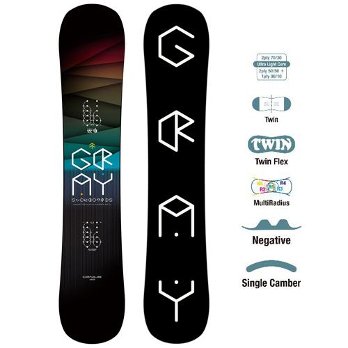送料無料 19-20 GRAY SNOWBOARD グレイ スノーボード フリースタイル GENIUS ジーニアス キャンバー ツイン 国産ボード メンズ レディース
