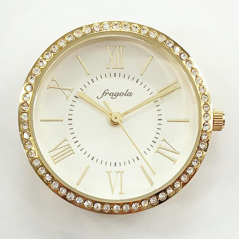ハンドメイドにおすすめ 時計パーツです 送料無料 通信販売 時計 パーツ ヘッド フェイス ケース ハンドメイド 文字盤 腕時計 レディース ウォッチ 女性 a06218a-0 オリジナル 雑貨 プチプラ ゴールド 秒針 小さい 日本製クオーツ 金属 かわいい 小物 おしゃれ 新色 1年保証 手作り チャーム