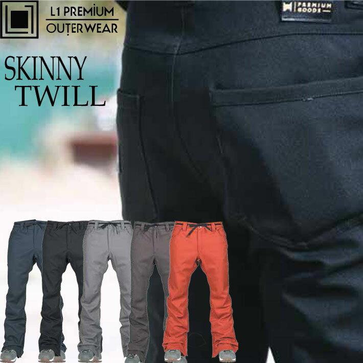 18-19 エルワン SKINNY TWILL スノーボードウェア メンズ パンツ L1 スキニーツイル