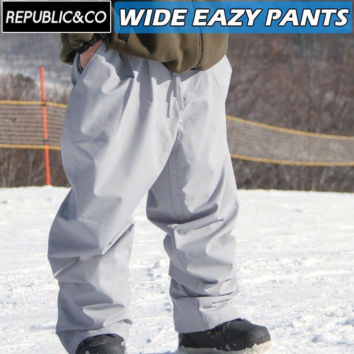 ウィンタースポーツ アウトドアなど幅広く使用可能 21-22 超目玉 REPUBLICCO リパブリック パンツ WIDE EAZY ワイドイージーパンツ アウトドア メンズ PANTS 釣り 高い素材 スケートボード スノーウェア