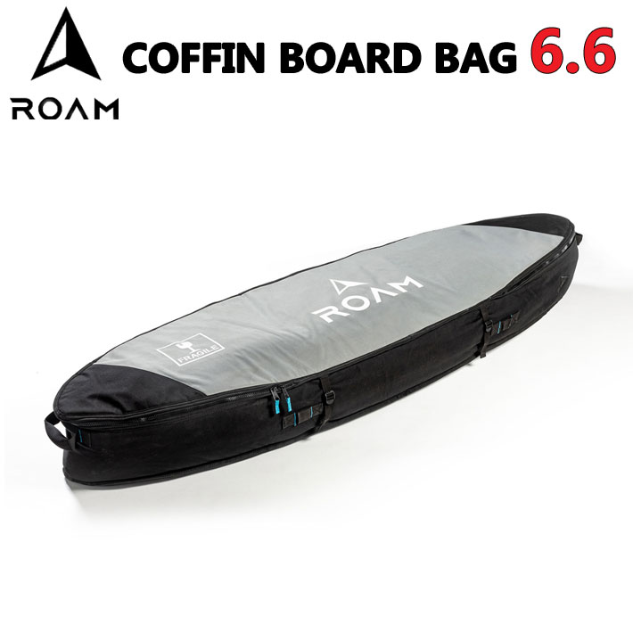 "ROAM ローム COFFIN BOARD BAG ボードケース コフィン 6'6"" TRAVEL トラベル用 サーフボードケース [現品限り] 【あす楽対応】"
