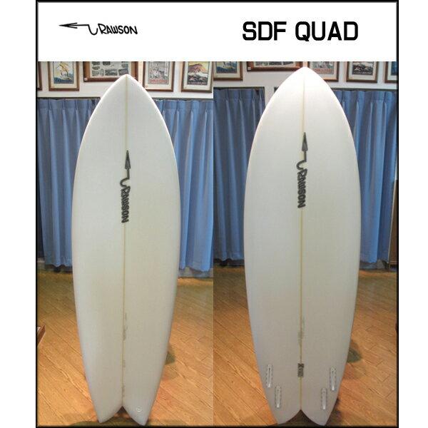 [現品限り特別価格] Pat Rawson パットローソン サーフボード SDF QUAD 5.8 レトロフィッシュ クワッド ショートボード [条件付き送料無料]