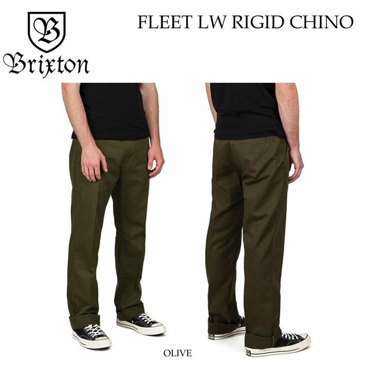 2018 ブリクストン FLEET LW RIGID CHINO PANT チノパン メンズ Brixton