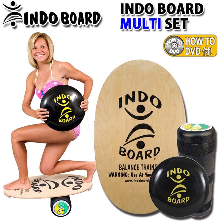 [送料無料] INDO BOARD インドボード マルチセット バランスボード トレーニング 室内 運動器具 ローラー クッション DVDのお得な4点セット インドゥボード サーフィン スノーボード 体幹トレーニング 骨盤補正 フィットネス【あす楽対応】