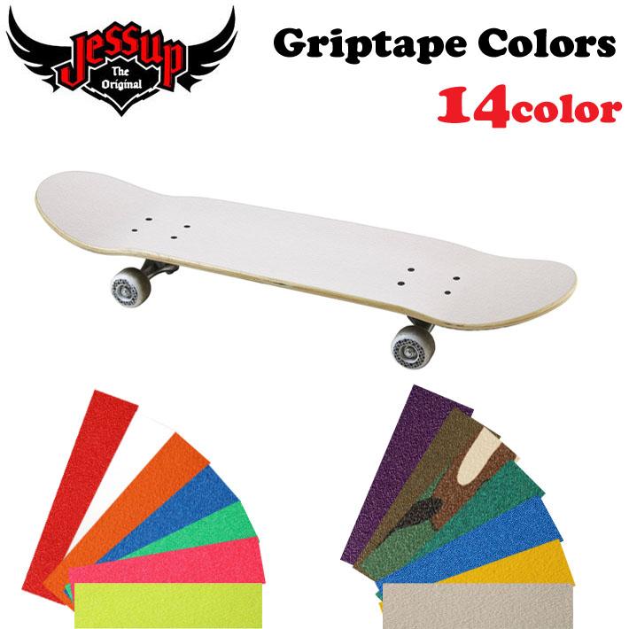 日本で最も使用率が高いスケートボードデッキテープ スケボー お買得 グリップテープ Jessup GripTape デッキテープ ジェサップ スケートボード あす楽対応 新品■送料無料■ Colors