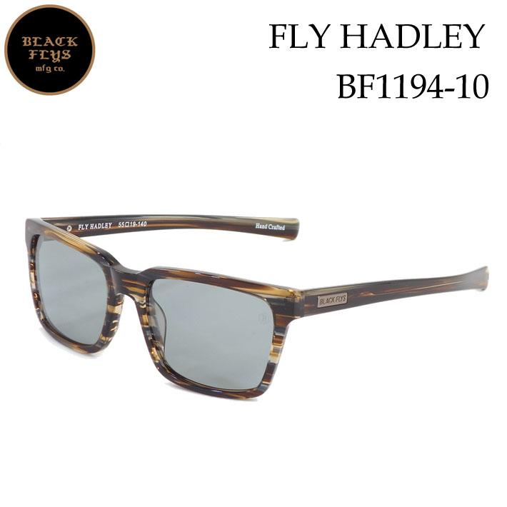 ブラックフライ サングラス 偏光 [BF-1194-10] FLY HADLEY フライ へドリー BLACK FLYS [B.STRIPE/L.GREY_POLARIZED] ジャパンフィット