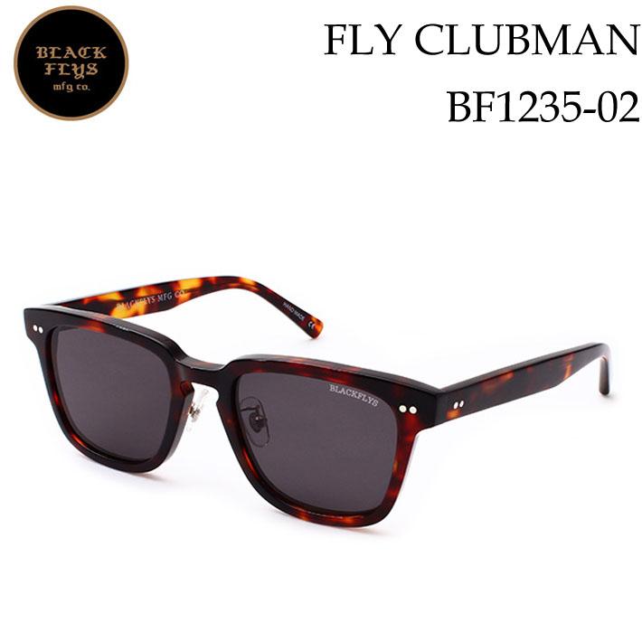 FLYS CLUBMAN サングラス クラブマン BLACK ジャパンフィット [BF-1235-02] [HAVANA/GREY_POLARIZED] フライ ブラックフライ FLY