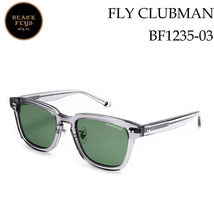 ブラックフライ サングラス [BF-1235-03] FLY CLUBMAN フライ クラブマン BLACK FLYS [C.GREY/GREEN_POLARIZED] ジャパンフィット