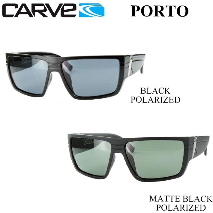 CARVE カーブ サングラス Porto ポルト Matte Black [40-1] Black [41-1] POLARIZED 偏光レンズ 【あす楽対応】