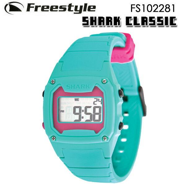 FreeStyle フリースタイル 腕時計 防水 [FS102281/10006648] SHARK CLASSIC SILICON シャーククラシック シリコン PNK・GRN デジタル時計