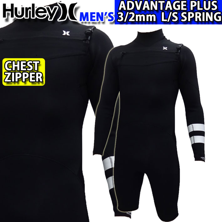 [follows特別価格] ウェットスーツ ロングスプリング ロンスプ メンズ 3mm 2020 Hurley ハーレー [MZLSAD20] CHEST ZIP チェストジップ ADVANTAGE PLUS アドバンテージ プラス サーフィン 春夏用【あす楽対応】