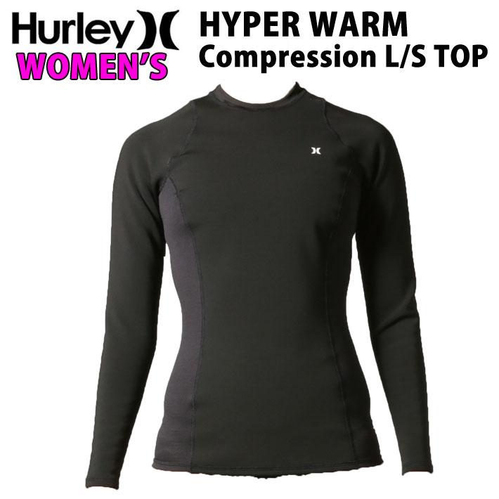 ウェットスーツ インナー 防寒 長袖 Hurley ハーレー レディース 0.3mm [GHPLST] HYPERWARM Complession Long Sleeve Top 起毛 サーモライトV2[送料無料]