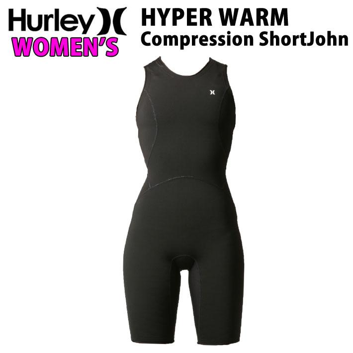 Hurley ハーレー ウェットスーツ インナー 防寒 ショートジョン レディース 0.3mm [GHPCSJ] HYPERWARM Complession ShortJohn 起毛 サーモライトV2 コンプレッション インナー 冬用