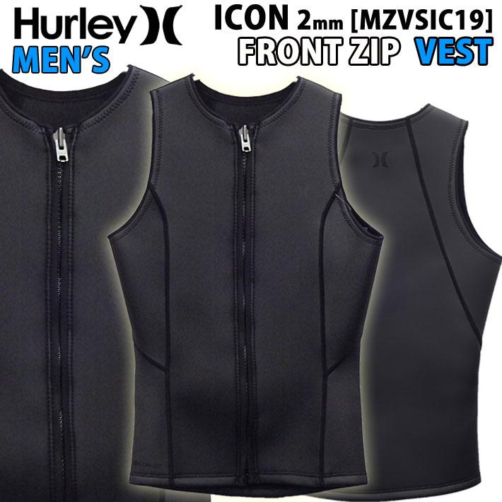[現品限り特別価格] 2019 Hurley ハーレー ウェットスーツ ベスト フロントジップ メンズ 2mm [MZVSIC19] ICON VEST タッパー FRONT ZIP BLKスキン 春夏【あす楽対応】