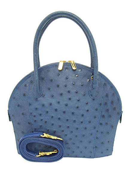 395ceab256c1 NICO MARTELLI made in Italy ostrich book second hand handbags blue (BL  FON-235)