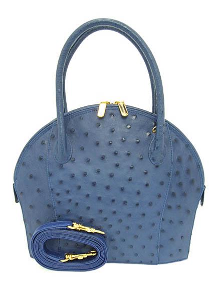 Nico Martelli Made In Italy Ostrich Book Second Hand Handbags Blue Bl Fon 235