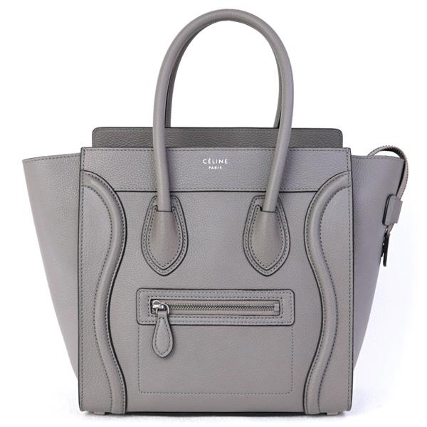 Celine Bag Luggage Micro Handbag Gray 167793dru Gl