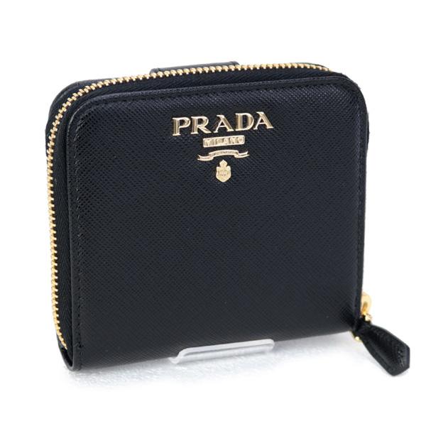 プラダ PRADA 財布 SAFFIANO METAL 折財布 カーフ ブラック (1ML522 QWA F0002 NERO)【あす楽対応】
