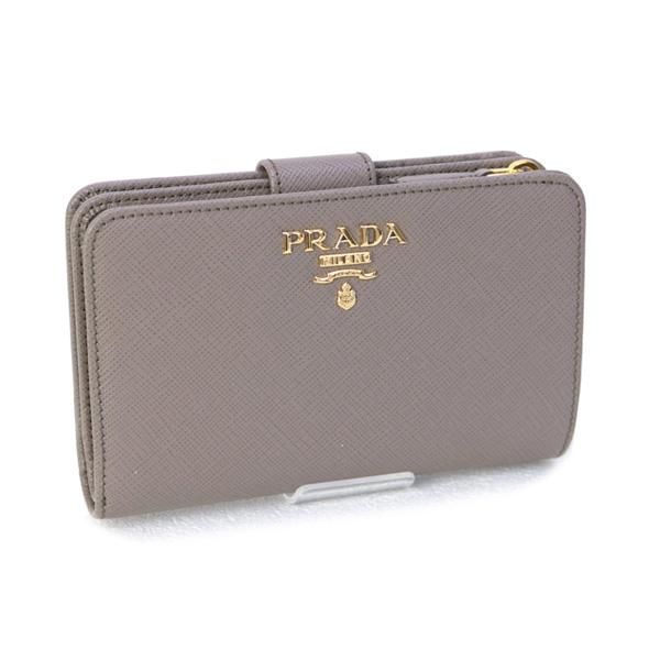 プラダ PRADA 財布 SAFFIANO METAL 折財布 カーフ グレージュ 1ML225 QWA F0572 ARGILLA 成人式 販促ツールに♪お見舞 入学祝