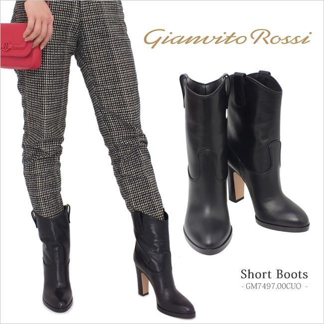 レディース ジャンヴィト・ロッシ gianvito rossi ショートブーツ ブラック (GM7497.00CUO BK)
