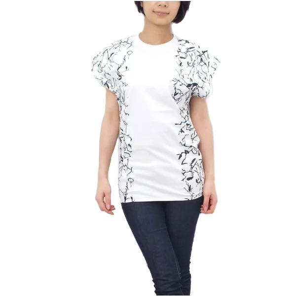 バレンシアガ BALENCIAGA レディース Tシャツ トップス ホワイト系 (342686 TIK36 9040 WH系)