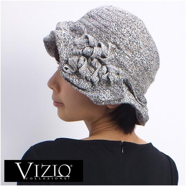 VIZIO COLLEZIONE ヴィジオ イタリア製帽子 ベージュ×シルバー (5064FF-BE-SLV)【あす楽対応】