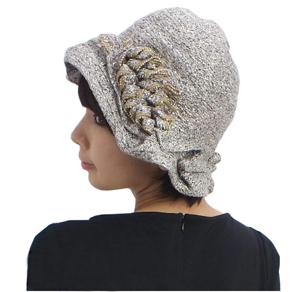VIZIO COLLEZIONE ヴィジオ イタリア製帽子 ベージュ×ゴールド (5064FF-BE-GLD)