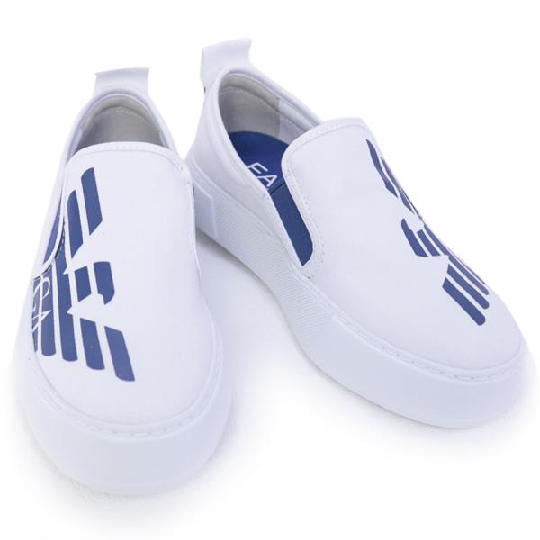 2018年春夏 エンポリオアルマーニ イーエーセブン EMPORIO ARMANI EA7 靴 レディース スニーカー スリッポン ホワイト (288047 8P299 00010 WHITE)