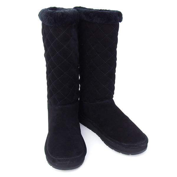 マイケルコース MICHAEL 卸売り KORS シューズ 在庫一掃セール マイケル 靴 ハーフブーツ QUILTED BOOT BLACK 40F5SDFB5S ブラック SANDY 好評
