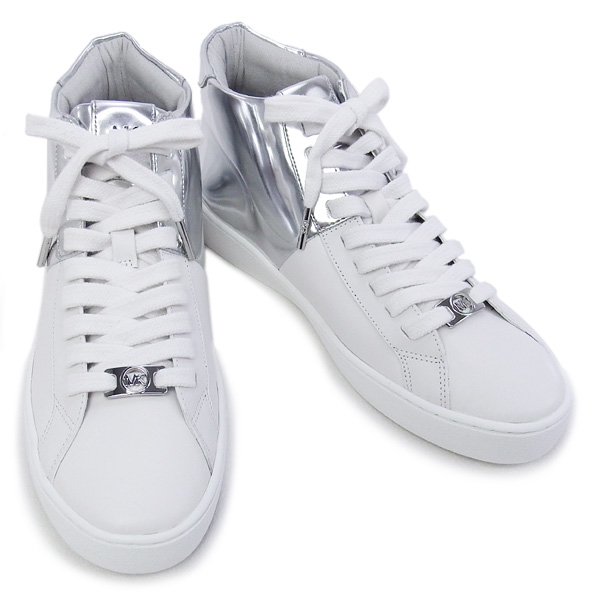 56c318a91cc7 fontana-it  Spring 2016 Summer Michael Michael Kors MICHAEL MICHAEL KORS  shoes TOBY HIGH TOP sneaker white   silver (43R6TOFE5M OPT SILVER)