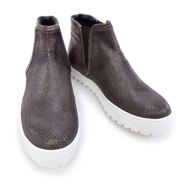 訳あり2 デザイン マニファトゥーラ design manifattura 靴 レディース NANCY ハイカット スニーカー ブラウン37サイズ (1312 VIPERA ST.-VINTAGE TDM MORO)