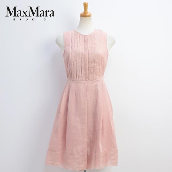 2018年春夏 マックスマーラ ステュディオ MaxMara Studio ノースリーブ ワンピース ピンク(PAGAIA 62211381 PK 014)