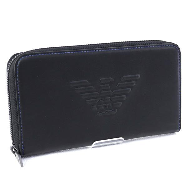 メンズ エンポリオアルマーニ EMPORIO ARMANI 財布 長財布 ブラック (YEME49 YG90J 81072 BLACK)