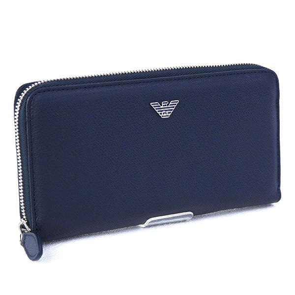 メンズ エンポリオアルマーニ EMPORIO ARMANI 財布 長財布 ブルー (YEME49 YAQ2E 82349 BURNING BLUE)
