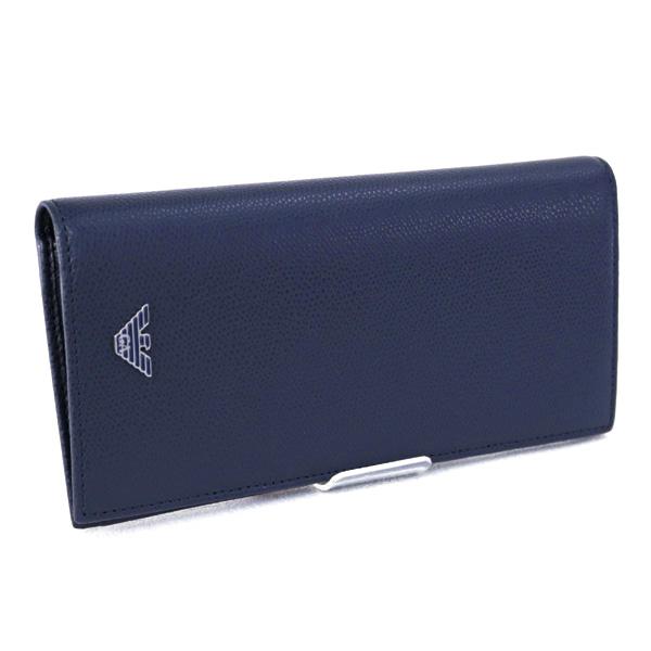 メンズ エンポリオアルマーニ EMPORIO ARMANI 財布 長財布 ブルー (YEM474 YAQ2E 82349 BURNING BLUE)【あす楽対応】
