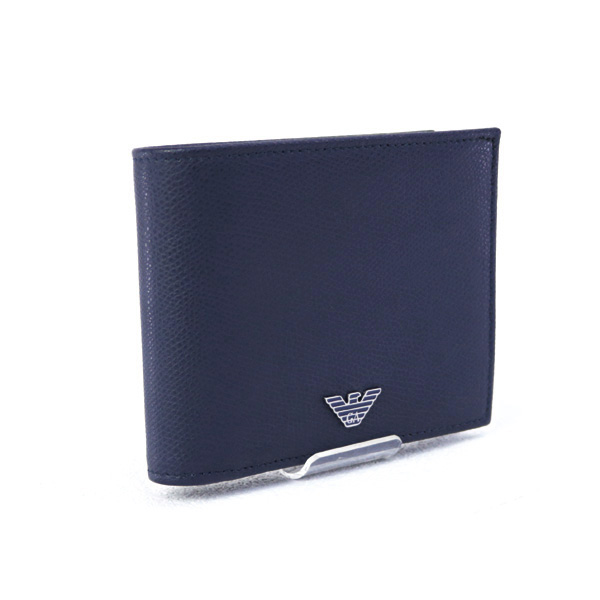 0e65b3db1d59 メンズ エンポリオアルマーニ EMPORIO ARMANI 財布 折財布 ブルー (YEM122 YAQ2E 82349 BURNING BLUE)