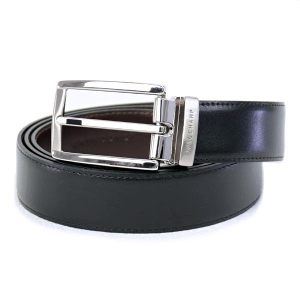 訳あり ロンシャン LONGCHAMP ベルト メンズ リバーシブルベルト ブラック×モカ (9602 022 093 Noir/Moka)