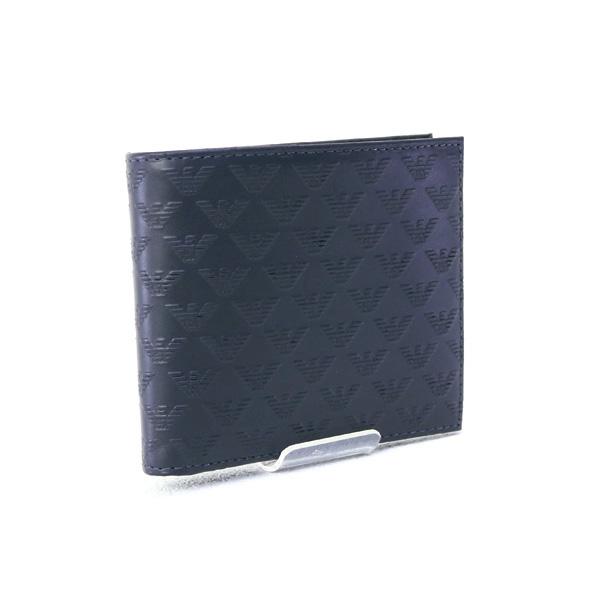 メンズ エンポリオアルマーニ EMPORIO ARMANI 財布 折財布 ネイビー×ブラック (YEM122 YMD6T 83194 NAVY/BLACK)