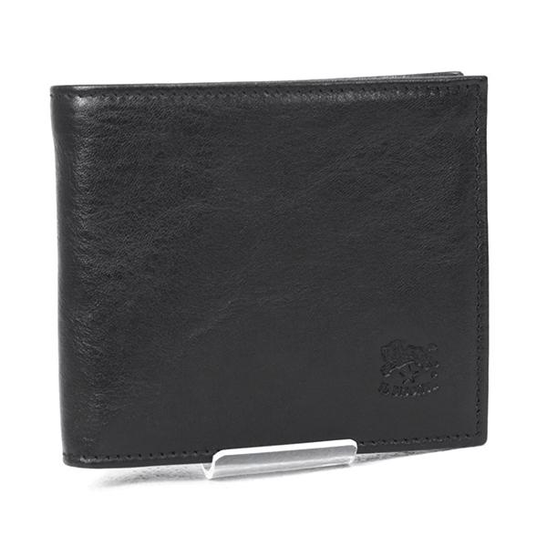 2018年秋冬 イルビゾンテ IL BISONTE 財布 メンズ 折財布 ブラック (C0487/MP 153 NERO)【brand】