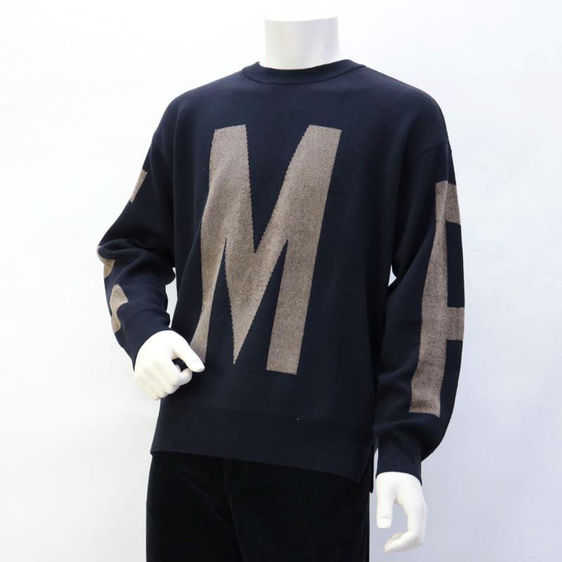 エンポリオアルマーニ EMPORIO ARMANI メンズ トップス セーター ニット ブルー (6G1MY5 1MPYZ F929 MAXILOGO BLU)【あす楽対応】