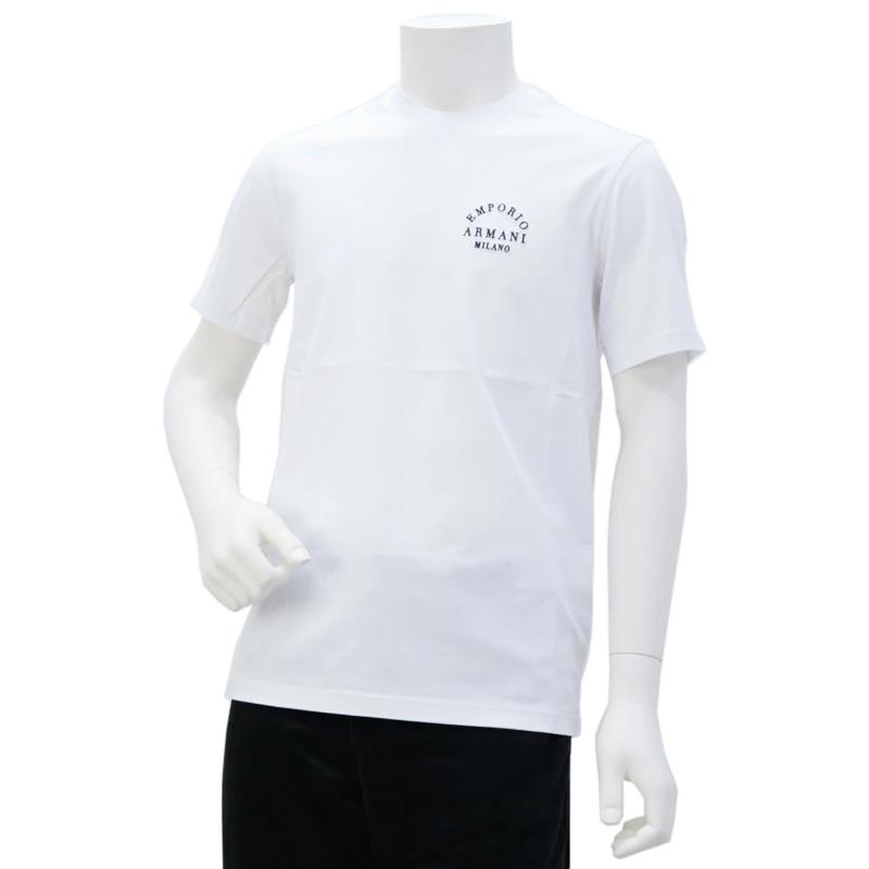 エンポリオアルマーニ EMPORIO ARMANI メンズ トップス Tシャツ ホワイト (6G1TP3 1JTUZ F116 BCO/EA MILANO)