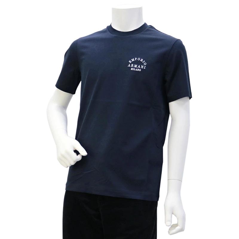 エンポリオアルマーニ EMPORIO ARMANI メンズ トップス Tシャツ ネイビー (6G1TP3 1JTUZ F973 NAVY/EA MILANO)