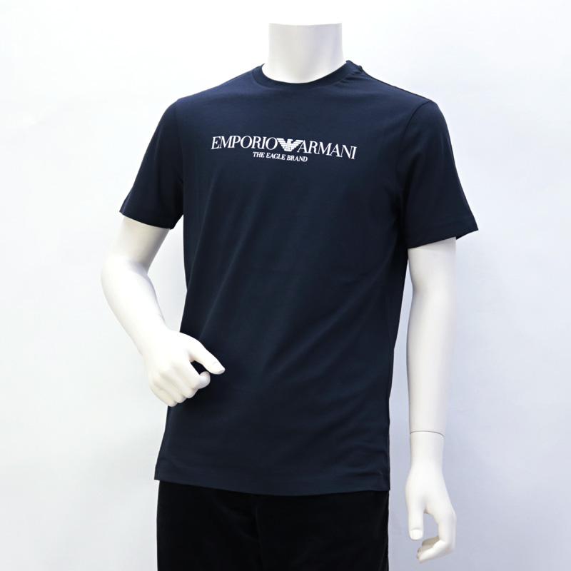 2019年秋冬新作 エンポリオアルマーニ EMPORIO ARMANI メンズ トップス Tシャツ ネイビー (8N1T61 1J00Z 0922 BLU NAVY)【dl】brand