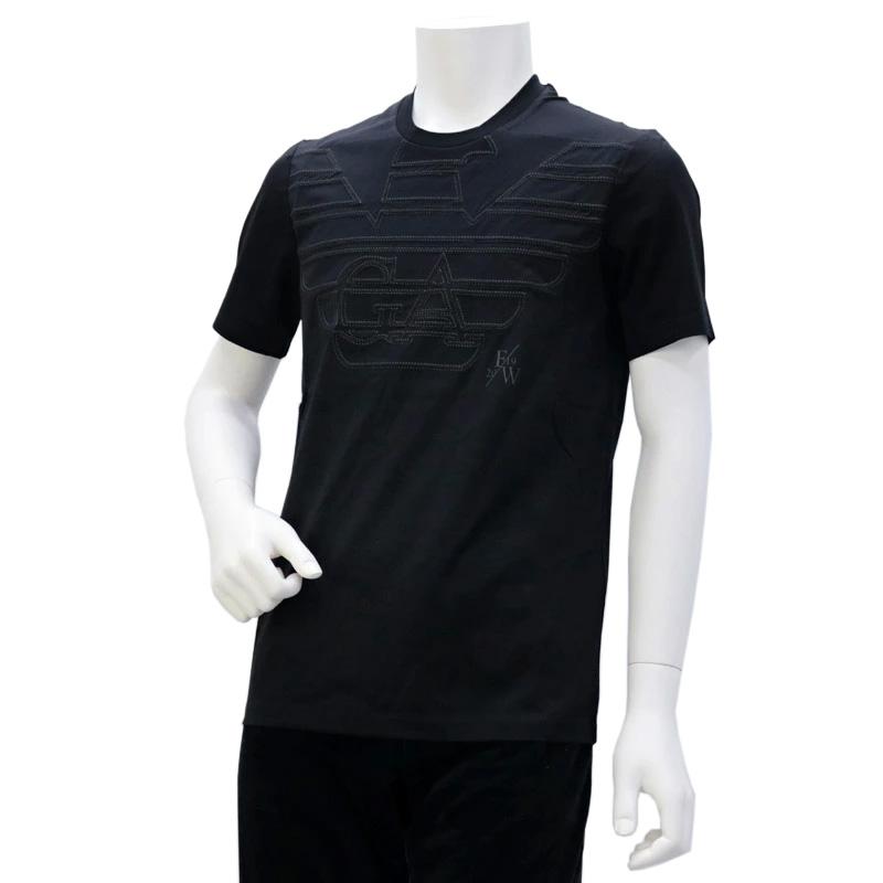 エンポリオアルマーニ EMPORIO ARMANI メンズ トップス Tシャツ ブラック (6G1TP9 1JTUZ F061 NRO.AQUILA.G)【あす楽対応】