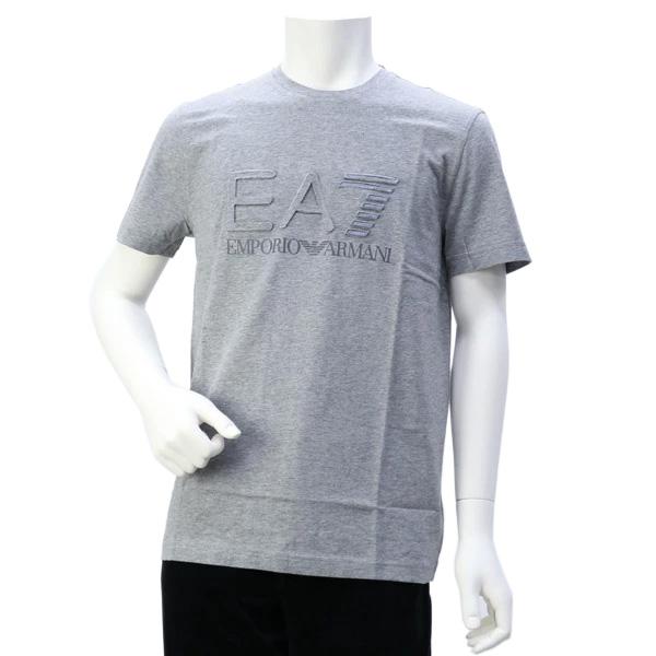 エンポリオアルマーニ イーエーセブン EMPORIO ARMANI EA7 メンズ トップス Tシャツ グレー (3GPT32 PJ02Z 3905 MEDIUM GREY)